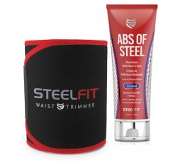 Slika izdelka: Komplet: SteelFit Abs of Steel 237 ml + Pas SteelFit Waist Trimmer